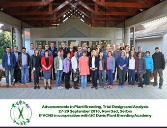 """Advancements in Plant Breeding, Trial Design and Analysis"" Institut za ratarstvo i povrtarstvo u saradnji sa UC Davis Plant Breeding Academy"